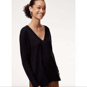 Aritzia Babaton Wool Blend Ballet neck sweater
